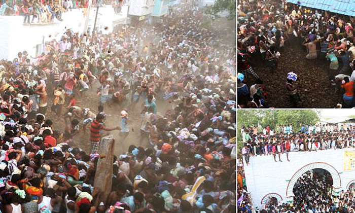 Dung Fight In That Village Where-ఆ ఊరిలో పిడకల సమరం…ఎక్కడంటే..-General-Telugu-Telugu Tollywood Photo Image-TeluguStop.com
