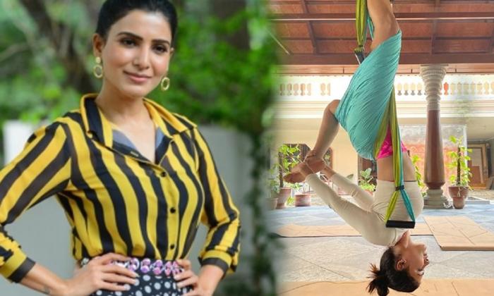 Pic Talk: Samantha Hanging Upside Down-TeluguStop.com