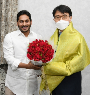 Chennai South Korean Consul General Calls On Andhra CM-General-English-Telugu Tollywood Photo Image-TeluguStop.com