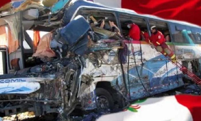 20 Pepoles Killed In Bus Accident-ఘోర రోడ్డు ప్రమాదం.. బస్సు బోల్తా పడటంతో 20 మంది మృతి.. -Breaking/Featured News Slide-Telugu Tollywood Photo Image-TeluguStop.com