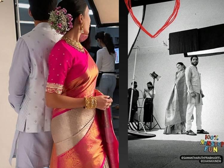 Samantha And Naga Chaitanya Go Traditional For Brand Shoot-కమర్షియల్ యాడ్ లో సమంత, నాగ చైతన్య.. వైరల్ ఫోటో-Latest News - Telugu-Telugu Tollywood Photo Image-TeluguStop.com