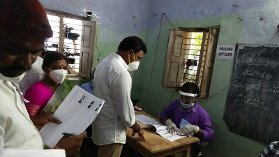 Smooth Polling In Nagarjunasagar Assembly Bypoll, 31% Voting By 11 A.m. (Lead)-General-English-Telugu Tollywood Photo Image-TeluguStop.com