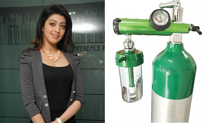 Heroine Pranitha Subhash Donates Oxygen Cylinders-TeluguStop.com