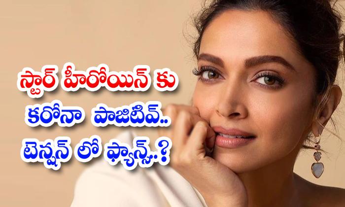Star Heroine Deepika Padukone Tested Corona Positive-స్టార్ హీరోయిన్ కు కరోనా పాజిటివ్.. టెన్షన్ లో ఫ్యాన్స్..-Latest News - Telugu-Telugu Tollywood Photo Image-TeluguStop.com