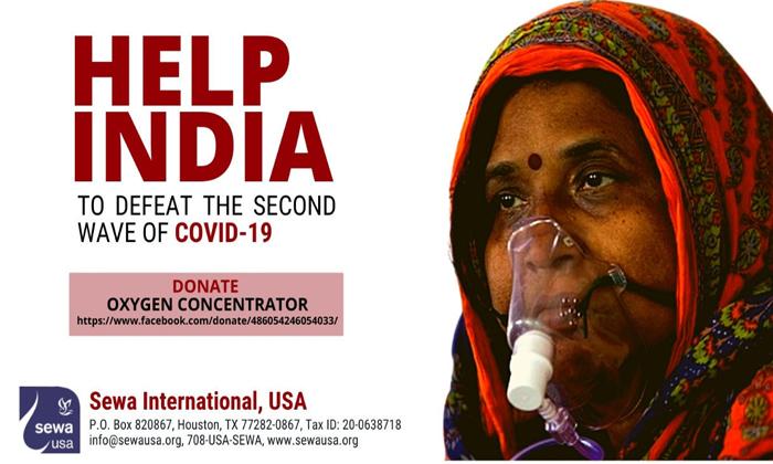 Telugu Covid 19 Crisis, Donations, Help India Defeat Covid-19, Indian-american Non-profit Body Raises Usd 7 Million For India Covid-19 Crisis, Ngos, Oxygen Concentrators, Sewa International-Telugu NRI