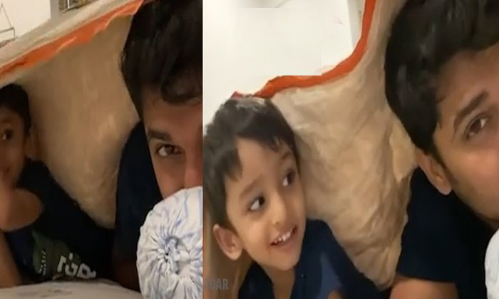 Nani Playing With His Son Video Goes Viral In Social Media-TeluguStop.com