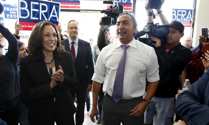 Indian American Congressman Meets Kamala Harris Over Covid 19 Crisis In India-TeluguStop.com
