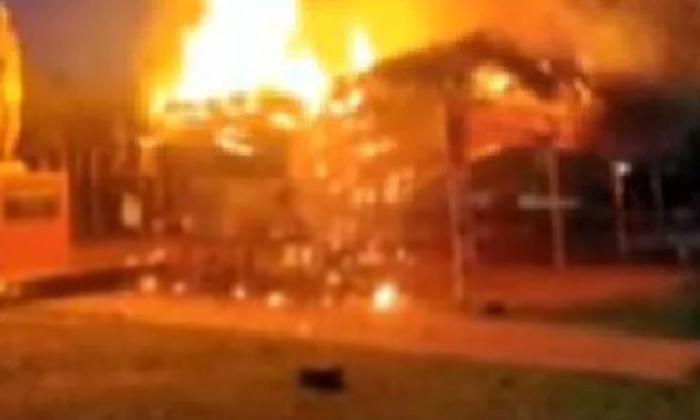 Fire At Visakhapatnam Steel Initiation Camp-TeluguStop.com