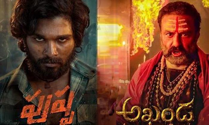 Allu Arjun Pushpa Movie Vs Nandamuri Balakrishna Akhanda Teasers Social Media - Telugu Banny Film News-Telugu Trending Latest News Updates-TeluguStop