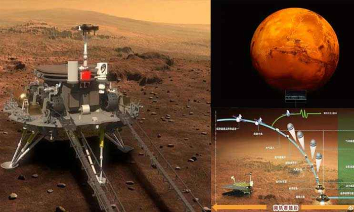 China Zhurong Rover Successfully Landed On Mars-డ్రాగన్ కంట్రీ ఖాతాలో అరుదైన రికార్డు..-General-Telugu-Telugu Tollywood Photo Image-TeluguStop.com