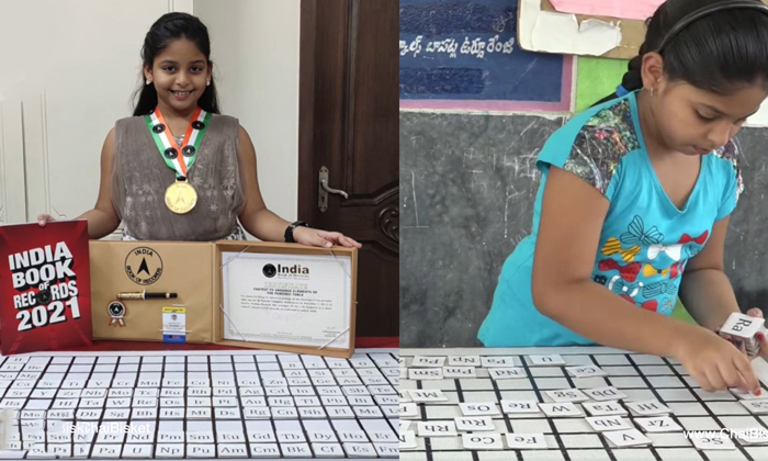 Fazila A Girl From Chilakaluripeta Gets Guinness Book World Record By Fastest Arranging Periodic Table-గిన్నిస్ బుక్ ఆఫ్ వరల్డ్ రికార్డ్స్ లో స్థానం సంపాదించిన చిలకలూరిపేట చిన్నారి..-General-Telugu-Telugu Tollywood Photo Image-TeluguStop.com
