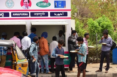 Free Meals For Needy At Annapurna Canteens In Hyd-TeluguStop.com