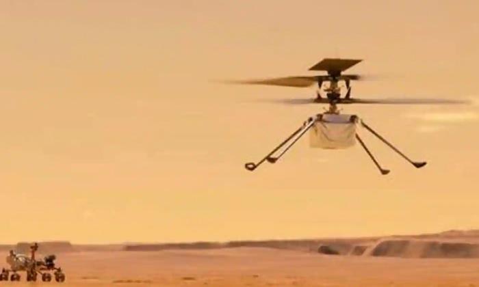 Wow Helicopter Circling Over Mars-వావ్: మార్స్ పై చక్కర్లు కొట్టిన హెలికాప్టర్..-General-Telugu-Telugu Tollywood Photo Image-TeluguStop.com