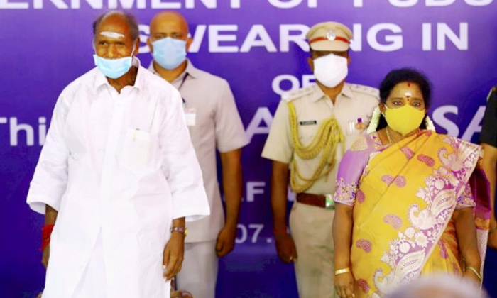 N Rangasamy Sworn In As Chief Minister Of Puducherry-TeluguStop.com