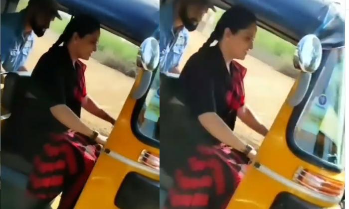 Telugu Actress Pragathi Auto Driving Video Viral-ఆటో నడిపిన తెలుగు నటి… దాంతో నెటిజన్లు…-Latest News - Telugu-Telugu Tollywood Photo Image-TeluguStop.com