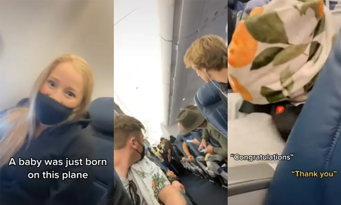 Woman Passenger Delivered In Delta Flight Viral-వైరల్: ఫ్లైట్ లో డెలివరీ అయిన నిండు గర్భిణీ..-General-Telugu-Telugu Tollywood Photo Image-TeluguStop.com