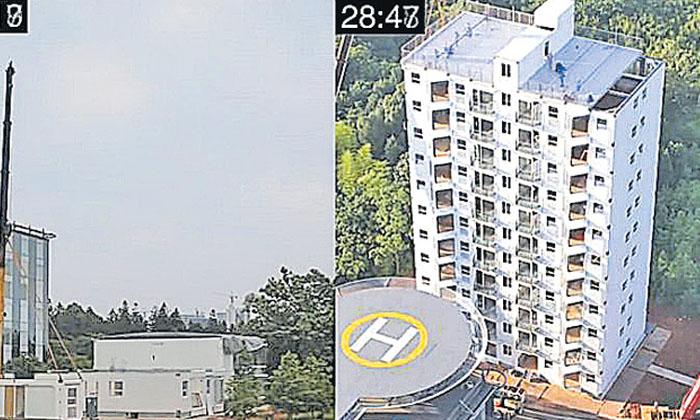 Viral In 28 Hours 10 Storey Building Construction-TeluguStop.com