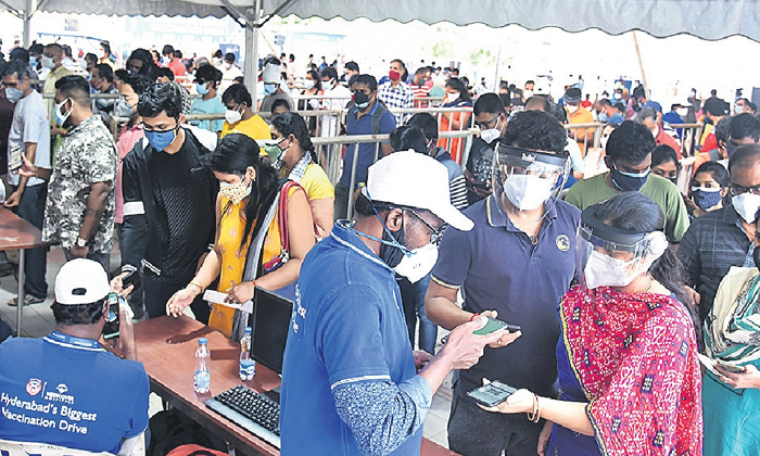 40 Thousand People Vaccinated In Mega Vaccine Drive Hyderabad-TeluguStop.com