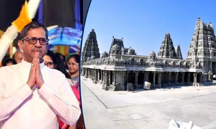 Cji Justice Nv Ramana To Visit Yadadri Temple Today-TeluguStop.com