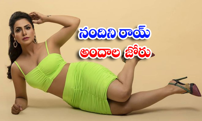 Social media sensational actress Nandini Rai spicy captivating photoshoot-నందిని రాయ్ అందాల జోరు