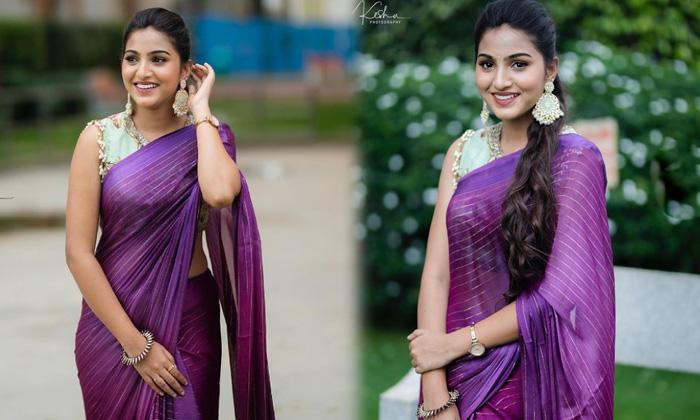 South Indian Actress Pranavi Manukonda Beautiful Saree Images - Telugu Pranavi Manukonda Gallery Hd Images Photos Insta High Resolution Photo