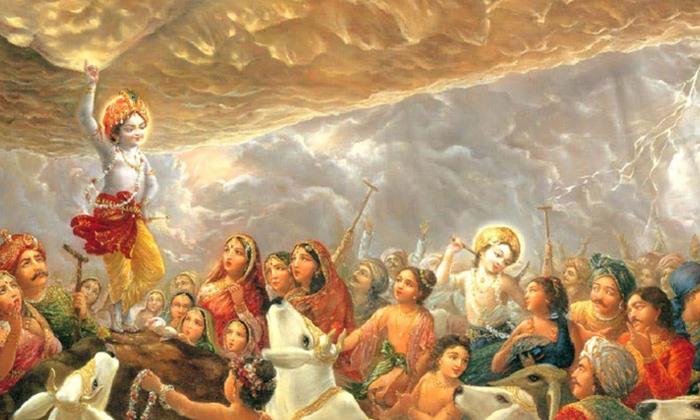 Telugu Govardhana Parvatham, Govinda Namasmaranam, Govulu, Indrudu, Reason Behind Govinda Namasmaranam In Tirupathi, Sri Krishna, Srikrishna, Tirumala, Venkateswara Swamy-Telugu Bhakthi