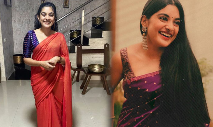 Check Out The Tollywood Beautiful Actress Nivetha Thomas Saree Gorgeous Clicks Dont Miss Seen Full Gallery-TeluguStop.com