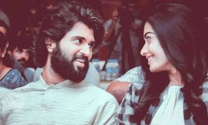 Vijay Deverakonda And Rashmika Romance In Bollywood Screen-TeluguStop.com