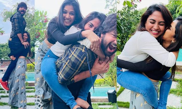 Ariyana Glory Enjoy With Sohel-TeluguStop.com
