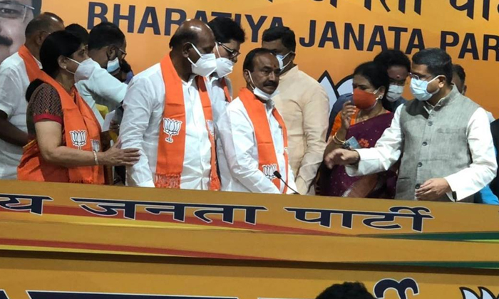 Eetela Rajendar Bjp Rally In Huzurabad-TeluguStop.com