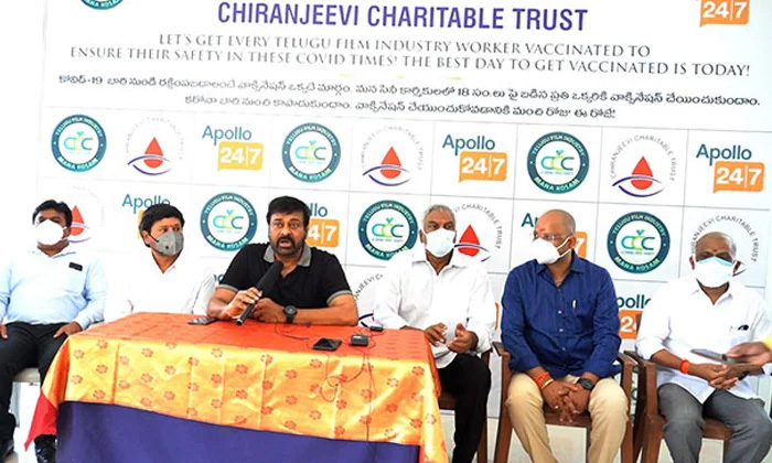 Ccc Covid Vaccination Program Going In Tollywood-సీసీసీ పనితో ఇక ఎప్పుడు షూటింగ్స్కు బ్రేక్ పడక పోవచ్చు-Latest News - Telugu-Telugu Tollywood Photo Image-TeluguStop.com