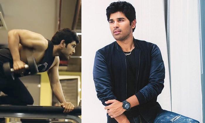 Allu Sirish Latest Workout Video Viral On Social Media-TeluguStop.com