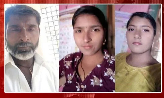Suicide Of Married Daughters Including Father At Karnataka-TeluguStop.com