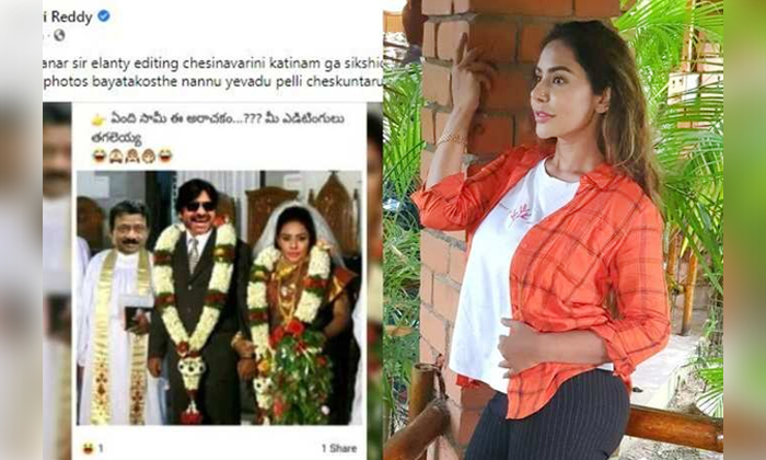 Pawan Kalyan Sri Reddy Marrige Photo Viral On Social Media-TeluguStop.com