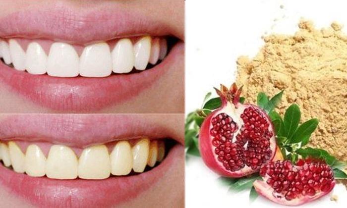 Pomegranate Peel Helps To Whitening Teeth-TeluguStop.com