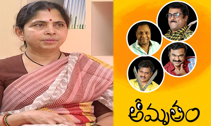 Rajamaouli Wife Rama Rajamouli Acted In A Telugu Serial Amrutam-TeluguStop.com