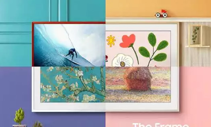 Samsung Released New Frame Like Tv-అచ్చం పెయింటింగ్ను పోలి ఉన్న టీవీని చూశారా-General-Telugu-Telugu Tollywood Photo Image-TeluguStop.com
