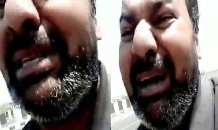 Viral Video Husband Running To Protect His Life From Wife In Agra-TeluguStop.com