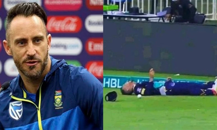 Viral Video South Africa Cricketer Faf Duplessis Joined Hospital Over Injury In Psl-TeluguStop.com