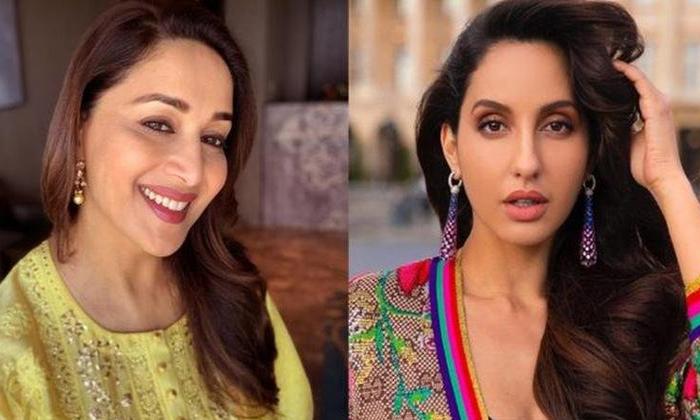Nora Fatehi React About Madhuri Dixit Biopic-TeluguStop.com