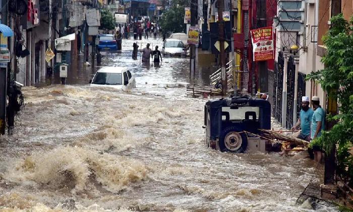 Heavy Rains: Hyderabad Under Red Alert-TeluguStop.com