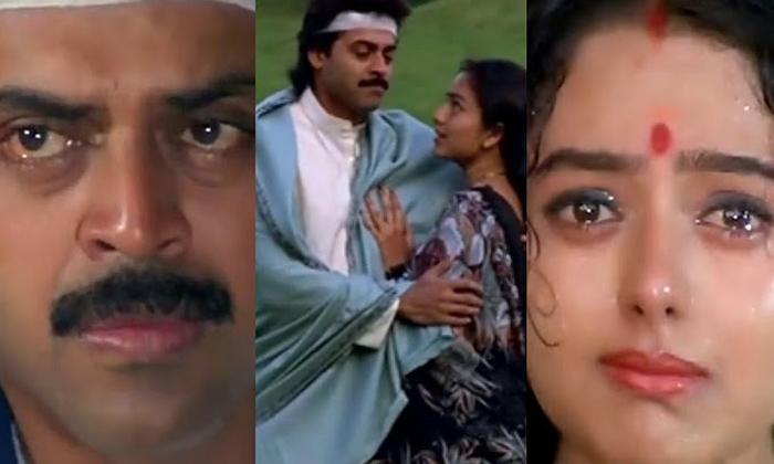 Telugu Hero Venkatesh, Hero Venkatesh Fell On Soundarya\\'s Legs, Narappa Movie, Narappa Movie Scenes, Narappa Story, Pavitra Bandham Movie, Soundarya, Venkatesh, Venkatesh About Soundarya, Venkatesh Interview, Vintage Memories-Movie