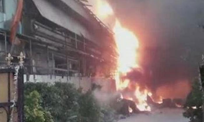 Telugu Huge Fire In Hyderabad, Hyderabad, Industriayl Area, Jeedimetla-Latest News - Telugu