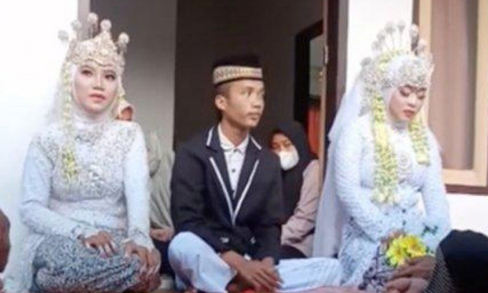 Telugu Bride Shocked As Fiancé\\'s Ex Shows Up At Wedding Asking Him To Be Married To Her Too, Indonesia Man Wedding, Indonesian Wedding, Wedding With Bride And Girlfriend, Wedding With Girlfriend-Latest News - Telugu