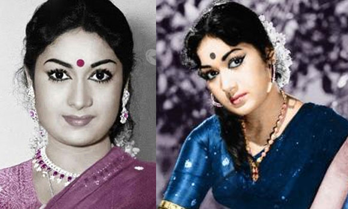 Mahanati Savitri Funny Trick To Look Tall-TeluguStop.com