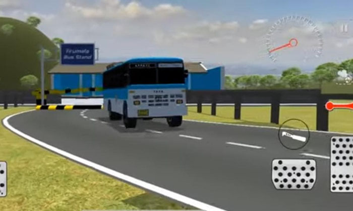 Viral Bus Travel Game On Tirumala Hill Which Stands As An Address To Conflicts-TeluguStop.com