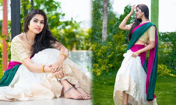 Divi Vadthya Saree Pics Goes Viral-TeluguStop.com