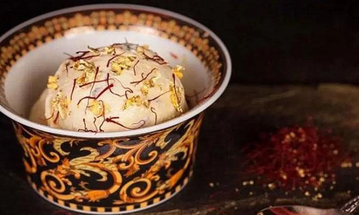 Telugu 60 Thousand Rupees, Dubai, Golden Coating, High Price, Ice Cream, Most Expensive Ice Cream, Shinaj Travels-Latest News - Telugu