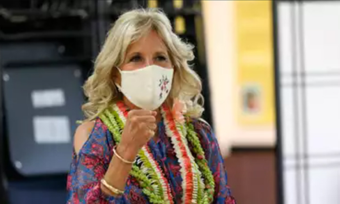 Donald Trump Supporters Protest As Jill Biden Visits Vaccine Clinic-TeluguStop.com