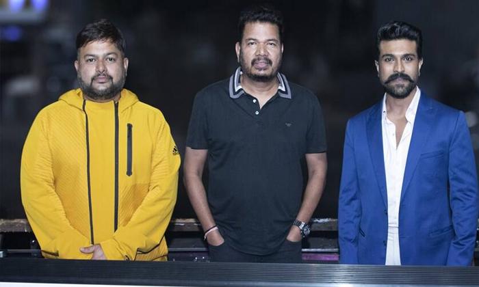 Ram Charan And Thaman Movie Song Recording-TeluguStop.com